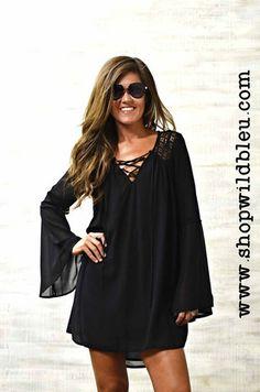 The Naomi | Wild Bleu, Black & Salmon belle sleeve dresses