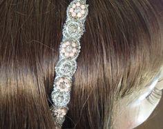 Diadema de novia plata moldeado diseñador de lujo por LHGDesigns