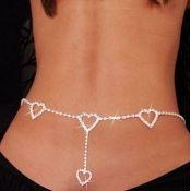 Fashion Silver Metal Body Chain