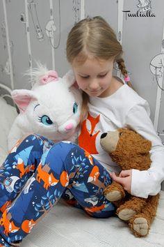 Kids pj with fox applique