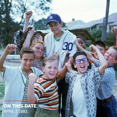 On this date, April 7, 1993, the movie was released. 90s Movies, Good Movies, Movie Tv, Iconic Movies, Comedy Movies, Movies Showing, Movies And Tv Shows, Sandlot Benny, The Sandlot Kids