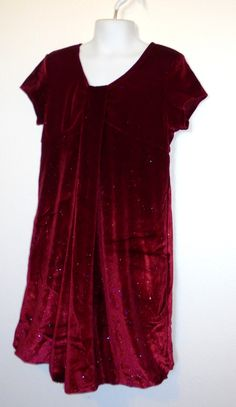 fccd8236ce99 Size 8 Girls ~  Hype - Red Velour Sparkly Christmas Dress w Balloon Hemline