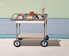 Wayne Thiebaud Dessert Cart (Study) 2003