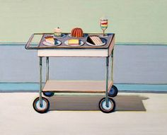 Wayne Thiebaud Dessert Cart (Study) 2003
