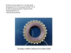 GISELEA RING free bead weaving pattern: donut pendant  ring tutorial 3/3 #pendant #donut #bicone