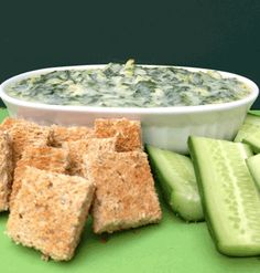 Super Skinny Spinach Artichoke Dip... uses caulflower as the base.