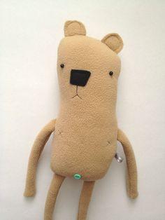 Plush bear friend by finkelsteins on Etsy.