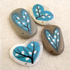 painted stones / blue valentine / aegean 7