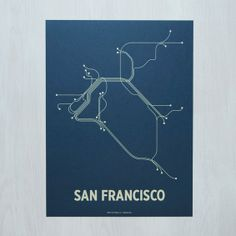 San Francisco 18x24 Screen Print by lineposters on Etsy, $28.00
