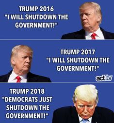 It was ok to blame Obama for a shutdown but not himself?  Shit rolls downhill idiot.  This is on you!!