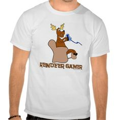 Reindeer Gamer Holiday T-shirt. Let Rudolph have the xbox controller already.