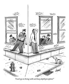 Quotes Discover A Man Standing On A Low Ledge Screams by Tom Cheney Tumblr Funny, Funny Memes, Hilarious Jokes, Funny Sayings, Really Funny, The Funny, Funny Toons, Far Side Cartoons, New Yorker Cartoons