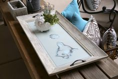 Turn a junk picture frame into a unique serving tray. We're doing lots of crafting lately, this idea could come in handy