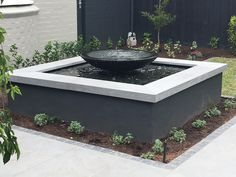 Shallow bowl feature package Contemporary Water Feature, Diy Water Feature, Backyard Water Feature, Small Water Features, Outdoor Water Features, Water Features In The Garden, Landscape Design, Garden Design, Traditional Landscape