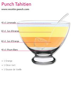Photo Cocktail PUNCH TAHITIEN - Expolore the best and the special ideas about Thirty one party Cocktail Punch, Cocktail And Mocktail, Vodka Cocktails, Non Alcoholic Drinks, Summer Cocktails, Cocktail Recipes, Cocktail Mix, Drink Recipes, Limoncello