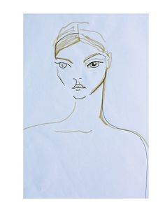 Self Portrait by Sasha Pivovarova featured in A Magazine curated by Giambattista Valli