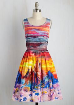Painted Love A-Line Dress. When youve got to get away, this pocketed dress will satisfy your wanderlust with stunning style. #multi #modcloth