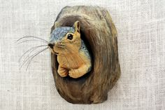 Squirrel Wood Carving Hand Carved by Mike Berlin, Wall Sculpture, Wildlife Art, Animal Carving by BerlinGlass on Etsy