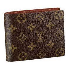 Men LV Monogram Canvas Wallet Brown M60026