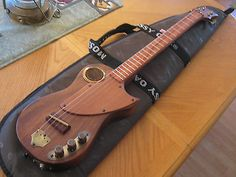 Steampunk Hollow Body Acoustic Electric Cigar Box 4-string Guitar Vintage Style