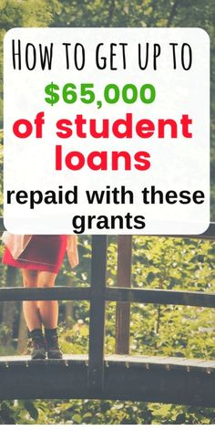 Grants to Pay Off Your Student Loans Faster Here are 11 amazing grants to help you payoff student loan debt.Here are 11 amazing grants to help you payoff student loan debt. School Loans, College Loans, School Scholarship, Scholarships For College, Education College, College Students, Graduate School, Law School, Federal Student Loans