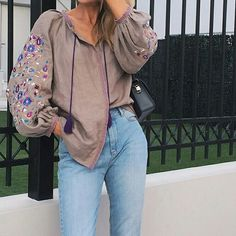 Mom Jeans, Bomber Jacket, Boho, Pants, Jackets, Makeup, Style, Fashion, Down Jackets