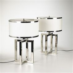 Table lamps (Pair) by Donald Deskey