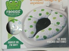 MOMMY'S HELPER Potty Seat Froggie Cushie Traveler Folding Padded Compact w Bag #MommysHelper