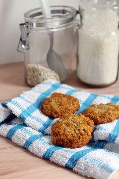 Biscuits Anzac, de coco, avena y miel en mi versión ...Filosofia de Sabor...