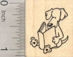 Stick Figure Series  D21226 WM Longhaired Cat Rubber Stamp