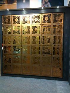 A088-Bronze Mirror Panel Wall, Mirror Mosaic, Mirror Tiles, Mirror Art, Wall Tiles, Tv Unit, Floor Design, Glass Design, Glass Art