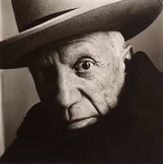 Irving Penn - Pablo Picasso at La Californie , Cannes, 1957 Platinum-palladium print © The Irving Penn Foundation