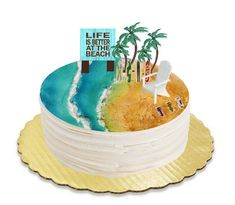 Items similar to Life is Better at The beach Cake Decoration Beer Cans Chair Tree & Sign Kit on Etsy Buckwheat Cake, Blackberry Recipes, Recipe For Teens, Beach Cakes, Bowl Cake, Salty Cake, Cake Tins, Savoury Cake, Mini Cakes
