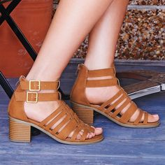 Strappy Gladiator Heel Sandal