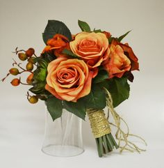 Fall Bouquet  Bridal Bouquet Small Bouquet by blueorchidcreations, $90.00