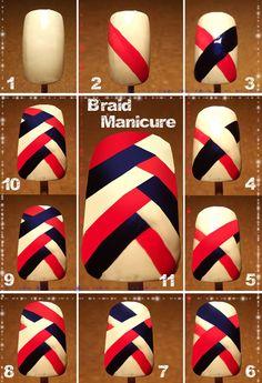 Trecce nei capelli, trecce sulle unghie: la Braid Manicure