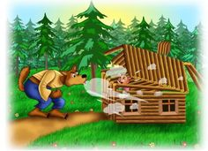 The three little pigs and the big bad wolf pigs. Once upon a time, there were three little pigs. One pig built a house of straw. Pig Images, Cute Images, Wallpaper Emoticon, Three Little Pigs Houses, Wolf Movie, Writing Pictures, Big Bad Wolf, Stories For Kids, Nursery Rhymes