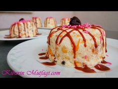 Dondurma tadında meyveli parfe tarifi - 5 dakikada hazır pratik pasta yapımı - Pasta tarifleri - YouTube