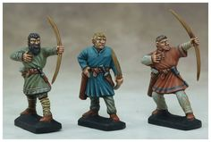 "Archers ""Ages Sombres""                                                                                                                                                                                                                                                           30 figurines en plastique à monter et à peindre Archers, Gripping Beast, Age, Painting, Plastic, Painting Art, Paintings"