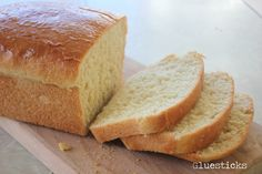 Amish White Bread, delicious but maybe a little less sugar and a tiny bit more salt. 250 cals for 1/8 of the loaf