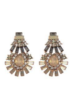Deco Crystal Baguette Earrings