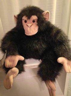 "Folkmanis Puppet Adult Chimpanzee 22"" Monkey Chimp plush RETIRED Monkey #2173 #Folkmanis"