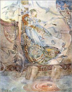 Hans Christian Andersen. The Little Mermaid (Die kleine seejungfrau). Wuppertal-Elberfeld,1953. Illustrated by Sulamith Wülfing.