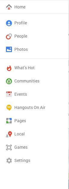 Hamburger Navigation from Google Plus › PatternTap