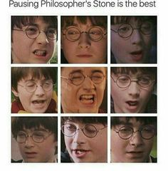 Dan Radcliffe as Harry Potter in The Philosopher's Stone.