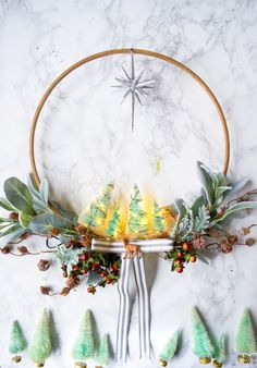 Make this original DIY Minty & Cool Holiday Wreath! It's perfect for Christmas or any winter holiday, & you can get super crafty w/ the instructions!