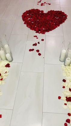 Wedding Night Room Decorations, Romantic Room Decoration, Romantic Bedroom Decor, Birthday Balloon Decorations, Anniversary Decorations, Valentine Decorations, Romantic Dinner Setting, Romantic Dinners, Romantic Gifts