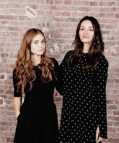 CLUMSY. RECESSIVE. STUBBORN., prettymysticfalls:   Holland Roden & Crystal Reed...