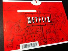 People started drawing on their Netflix mail. Too awesome. ^.^