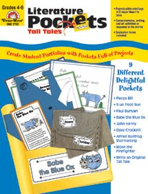 Tall Tales Literature Pockets--to go with tall tales reading next year?